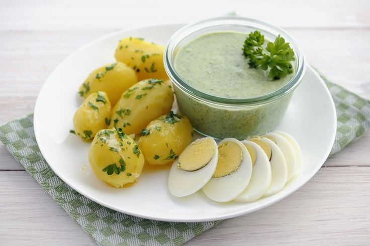 Frankfurt's Famous Green Sauce Recipe: Sour Cream and Herbs From Germany
