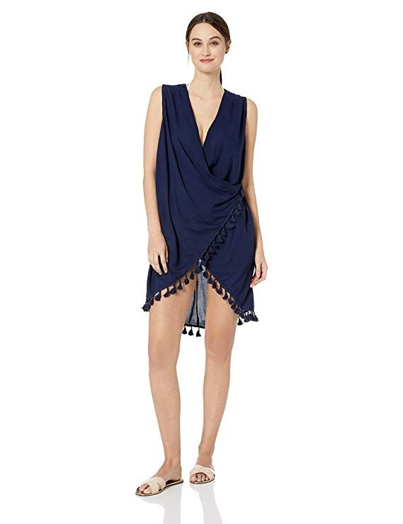 06dd94f3ba2ea Athena Women's Wrap Dress Swimsuit Cover Up in 2019 | Swimsuits ...