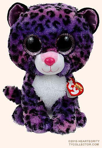 I love those precious big-eyed Beanie Boos! Jewel (medium) - leopard - Ty Beanie Boos