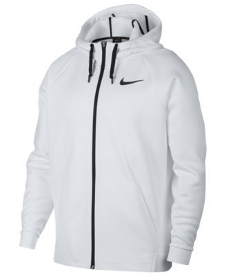 7380862bfae9 Nike Men s Therma Training Full Zip Hoodie - White XL