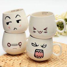 300ml expressão atraente criativa xícaras cerâmicas xícara de leite de café de chá de caneca de cara atraente