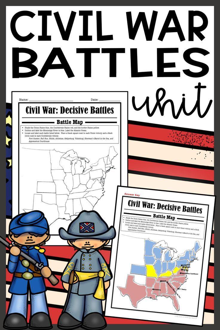 Civil War Reading Comprehension Worksheet