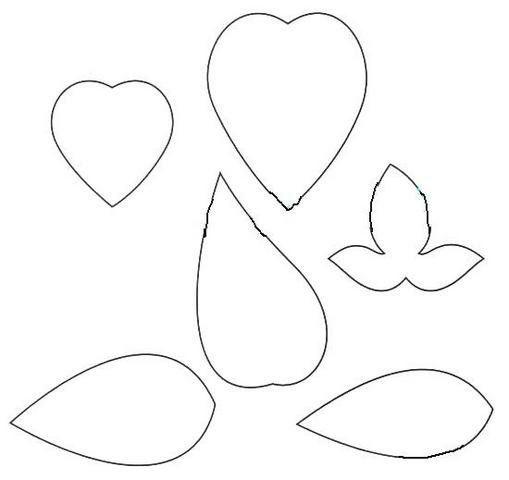Лепестки для цветка на открытку