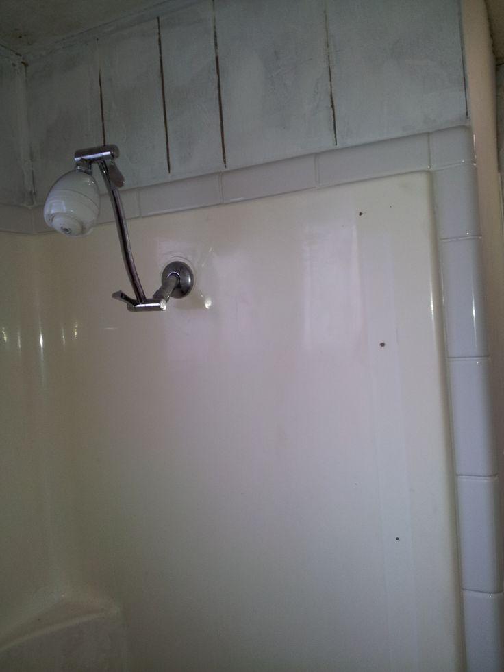 Tiled around shower surround