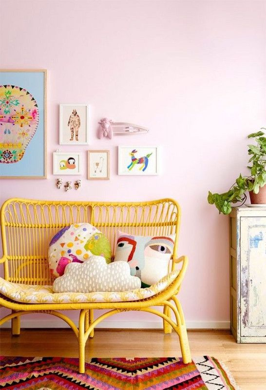 pop of color with painted furniture
