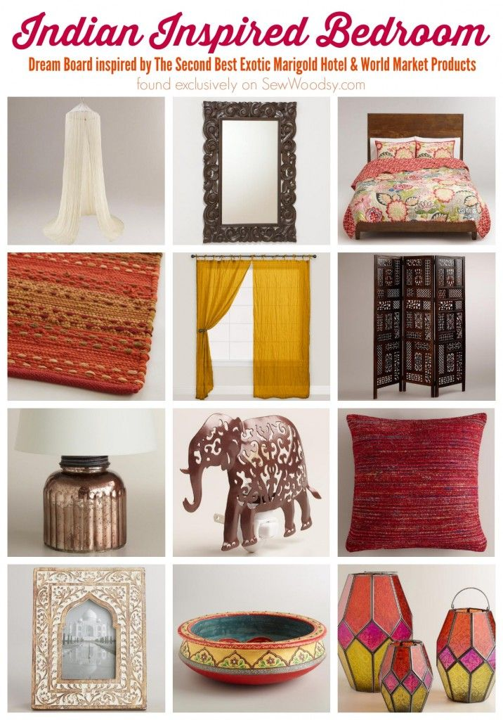Indian Inspired Bedroom via Sew Woodsy >> #WorldMarket #BestExoticMarigold #LoveBlooms