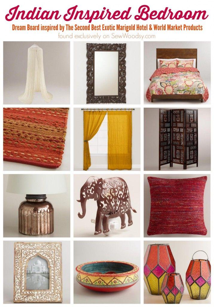 Indian Inspired Bedroom via Sew Woodsy >> #WorldMarket #BestExoticMarigold #LoveBlooms