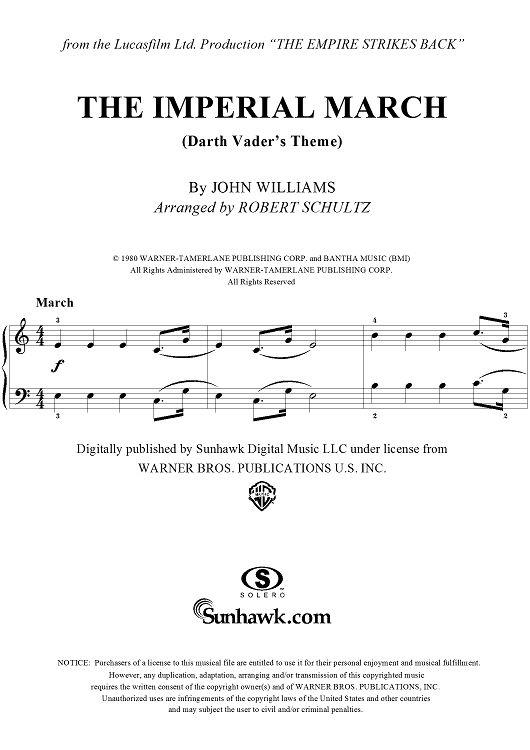 star wars sheet music pdf
