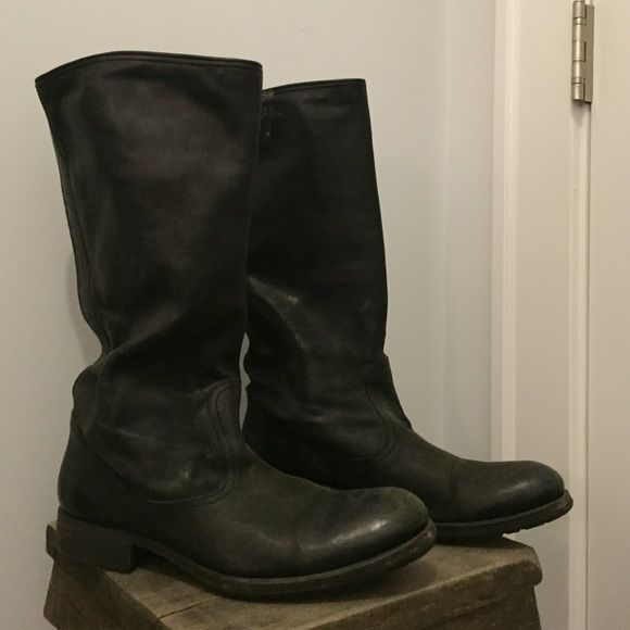 NDC handmade black leather boots NDC Made By Hand - Black Boot. 12 inch shaft and a 1 inch heel. Hand crafted in Tuscany, soft leather. n.d.c. Shoes Ankle Boots & Booties