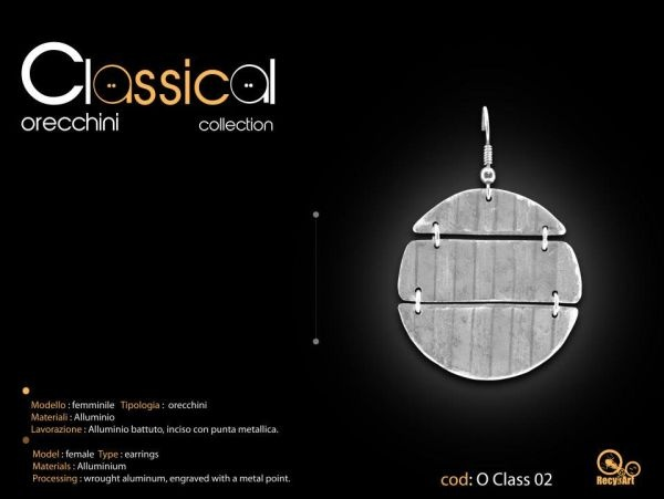 Orecchini Classical Collection. By Recykart