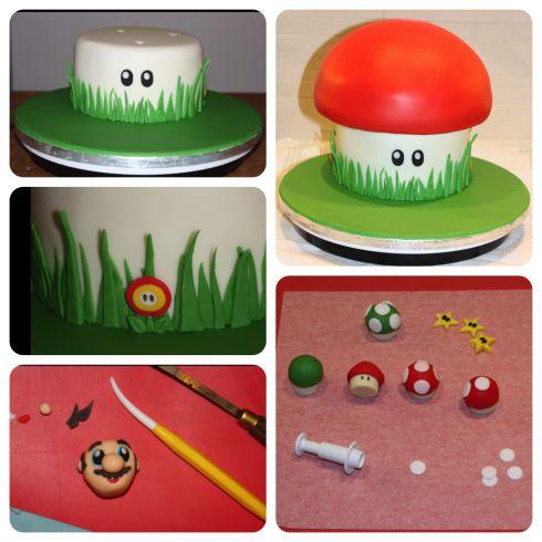 mario birthday cake tutorial