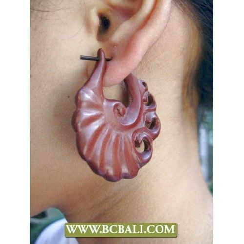 Bali Organic Earring Woods Carving - wholesale jewellry wooden carving ear from bali indonesia, online shop from bali, handmade organic ear wooden carved, indonesia manufacture jewellry wooden earring from bali