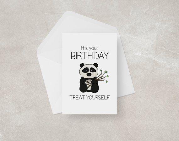 Panda Birthday Card Panda Card Funny Pun Card Cute Etsy Panda Birthday Cards Birthday Cards For Mum Birthday Cards