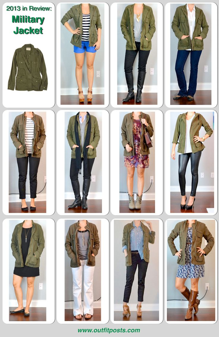 2013 -Outfit Post: Military Jacket. Try #CAbi Spring '14 Anorak Jacket. www.amymaslowski.cabionline.com