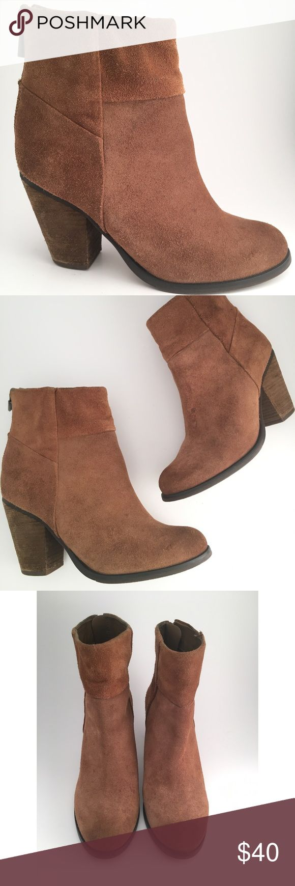 """Arturo Chiang Leather Suede 'Hadley' Booties ✨💞✨ Stylish & Pretty Booties by Arturo Chiang ✨💞✨  Size •  6.5  Heel Height • 3.25"""" Width • M  Style Name • Hadley  Style Boot • Round Toe Booties   🎇Note>>>>Condition. Pre-Owed. Some little wear the bottom. Other than that in Excellent Condition.   New Item posted 2/23/18 ✨ 💖All photos are taken by us.  📸 Exact item for Sale.  👉No Trades 🚫No Low-Balling Arturo Chiang Shoes Ankle Boots & Booties"""