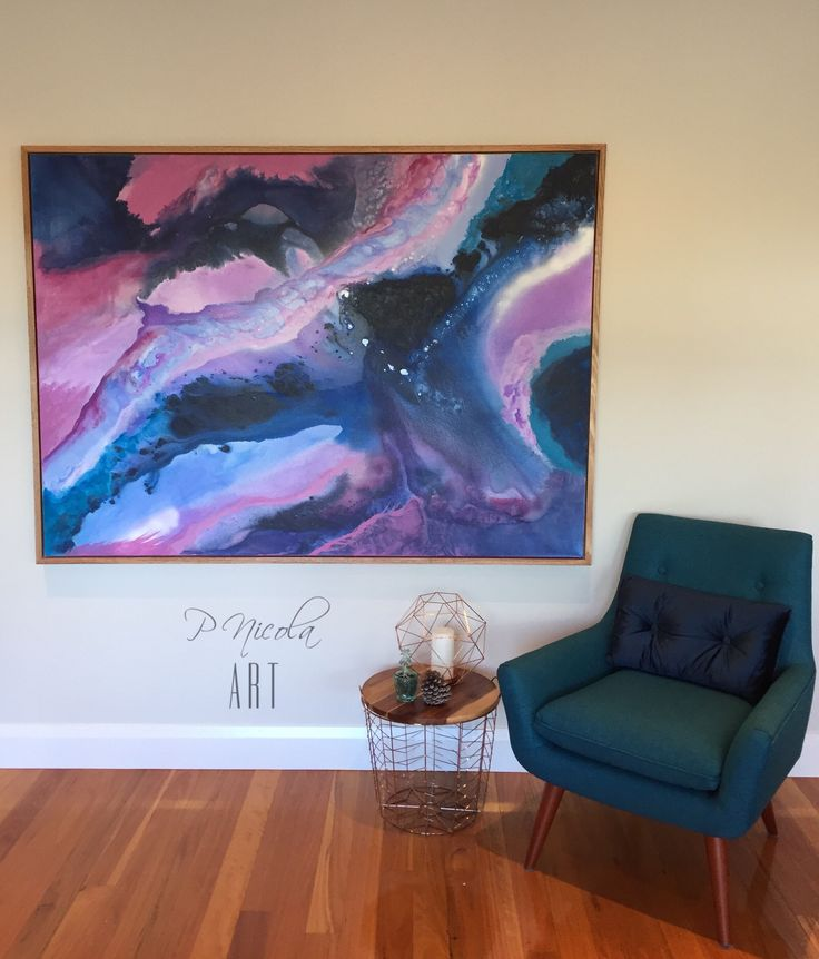 I N D I G O G A L A X Y 🔮✨ 121.9cm high and 167.6cm wide on 4cm deep gallery wrapped canvas - framed in thick 1.9cm oak box frame. Gorgeous abstract fluid acrylics and ink artwork in Indigo, blues, lilacs, mauves and violets with a touch of white. Click through to my Facebook page or email pnicolaart@gmail.com Www.instagram.com/pnicolaart