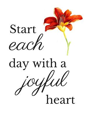 Start each day with a joyful heart. Morning Motivation {and a Free Printable}