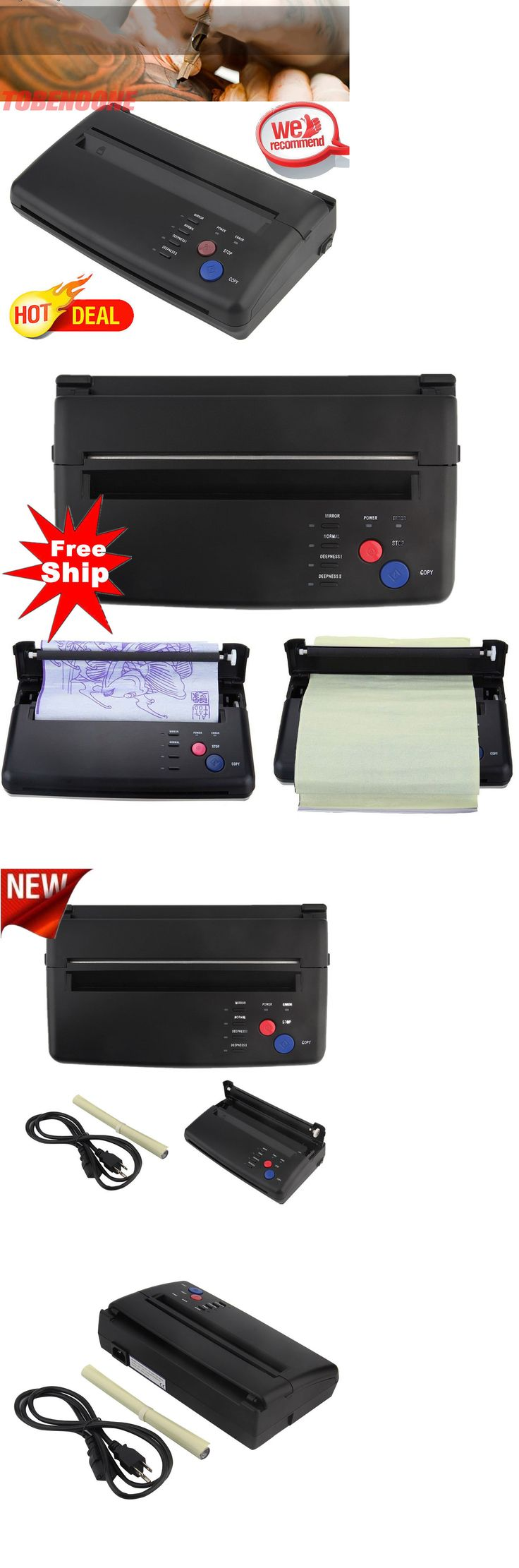 Stencils and Accessories: Tattoo Stencil Maker Transfer Machine Flash Thermal Copier Printer Supplies Oy BUY IT NOW ONLY: $114.97