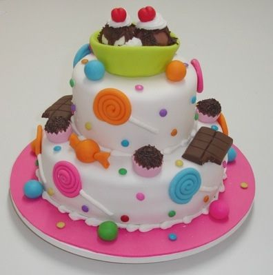 Sweet Candy Cake