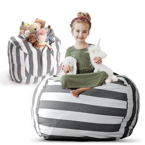 Extra Large Stuff N Sit Available In 10 Patterns Stuffed Animal Storage Bean Bag Chair Kid Toy Storage