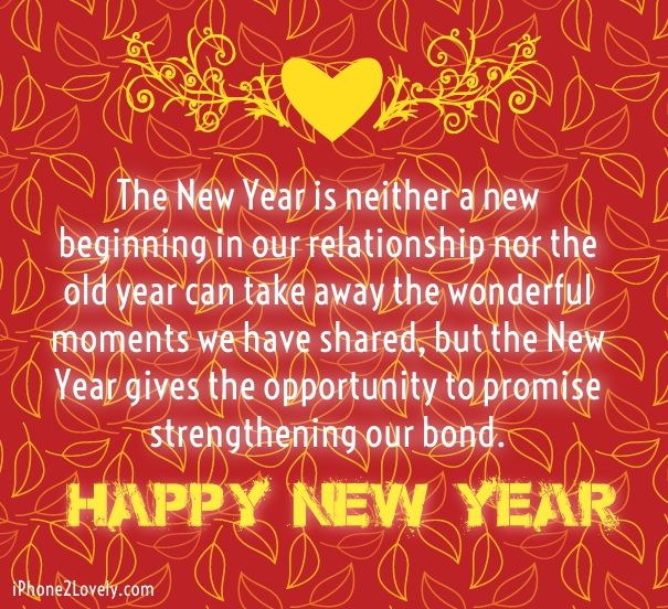 Happy New Year Eve Romantic Love Sayings Wishes