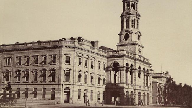Adelaide Town Hall as photographed in 1876.
