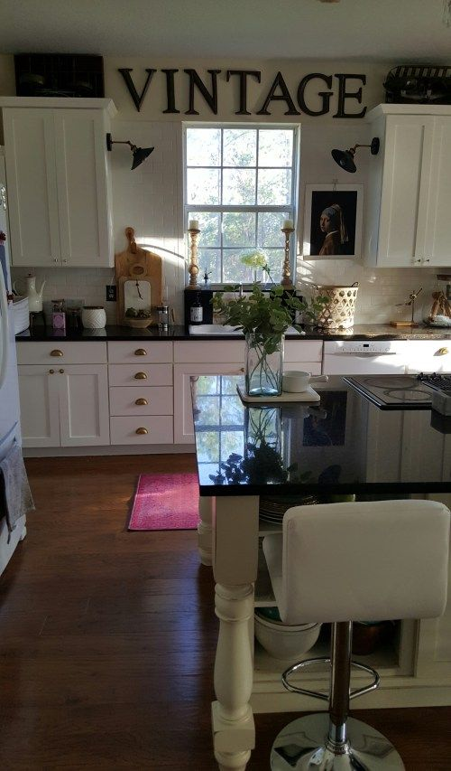 Eclectic Collected Vintage Modern Home Tour   One Room Challenge White  Kitchen Makeover Part 72