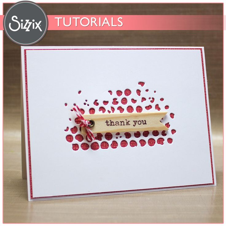 Sizzix Tutorial | Thank You Card by Tami Mayberry - uses Mixed Media die