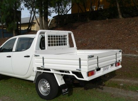 Mitsubishi Triton Dual Cab Sovereign Steel Tray Powder Coated White (TS-MB-TR-01-W) | Sovereign Design