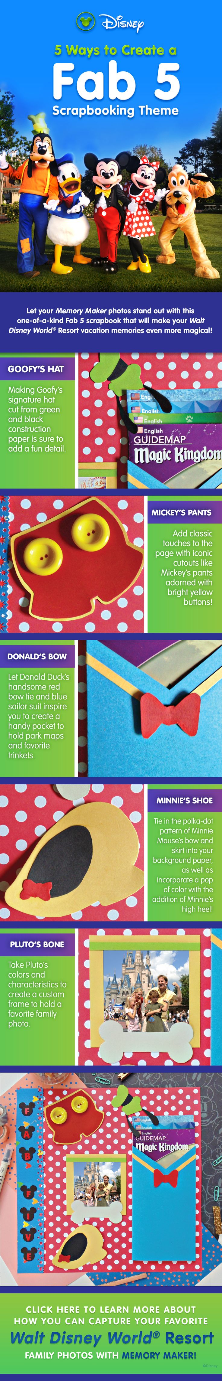 How to scrapbook disney vacation - Clever Ideas For Your Disney Vacation Scrapbook Note The Pin Links Out To