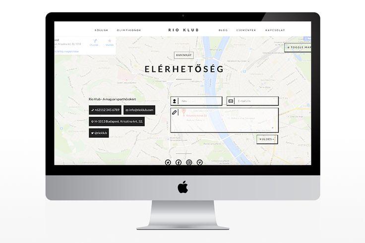 Rio Klub - web design plan
