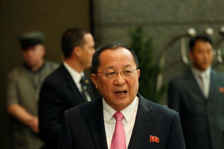 North Korea's foreign minister said on Monday that President Donald Trump had declared war on North Korea and that Pyongyang reserves the right to take countermeasures, including shooting down U.S. bombers even if they are not in its air space.