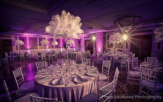 Wedding lighting delray beach marriott decor