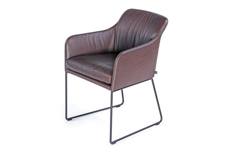 Armlehnstuhl Leder Anillin br. - Stühle - Sitzgelegenheiten