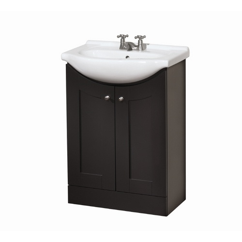 Gallery One great for a small bathroom Style Selections Dark Chocolate Eurostone Shaker Bath Vanity with Top