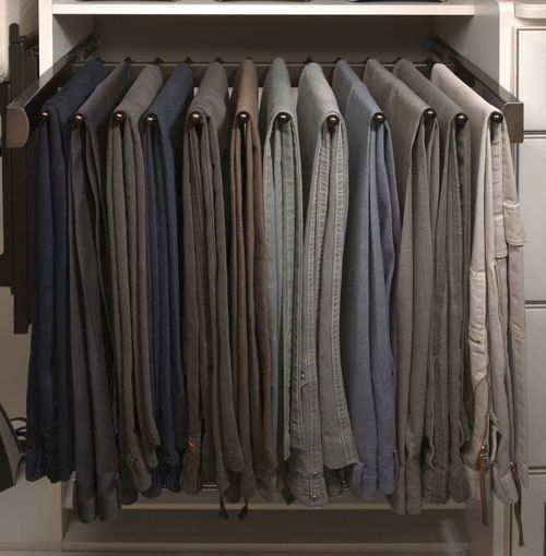 Deluxe Sliding Pants Rack With Slides By Sidelines