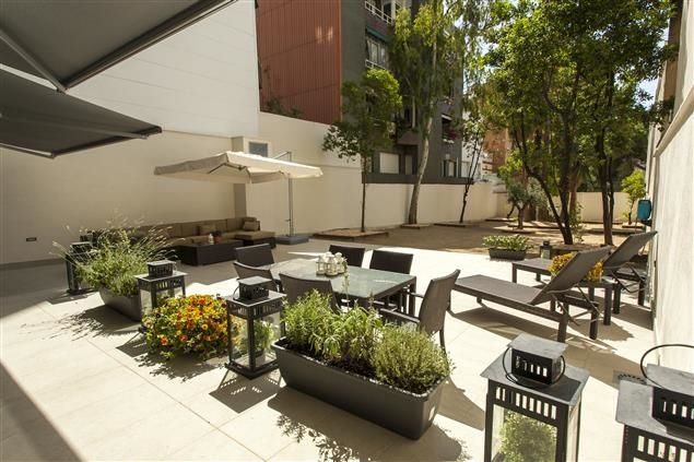 The Parc Guell Garden Apartment in #Barcelona, Magnificent terrace
