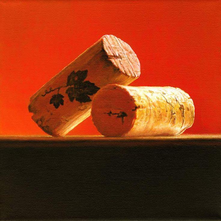 Christoph Eberle | Hyperrealistic painter | Still life | Korks, 2011, 20 × 20 cm, oil on canvas