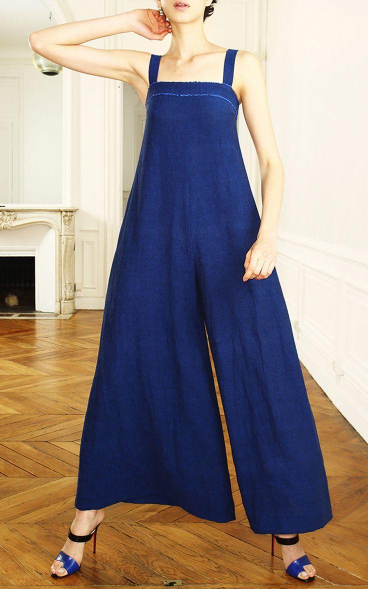 Linen Jean Jumpsuit by MARTIN GRANT