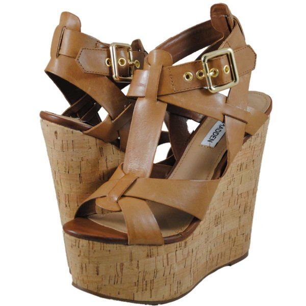 Steve Madden Womens Brunnt sandals Model BRUNNT COGNACLEATHER:Amazon:Shoes