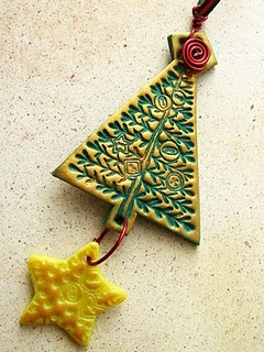 polymer clay ornament