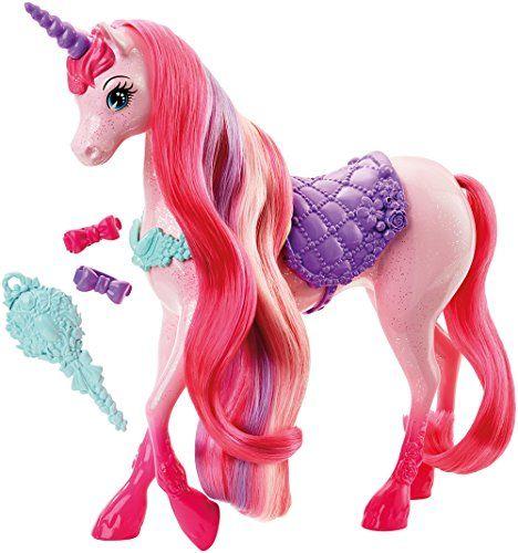 Barbie – DHC38 – Licorne Chevelure Magique: Réalise de jolies coiffures sur la Licorne chevelure magique rose. La crinière de la licorne…
