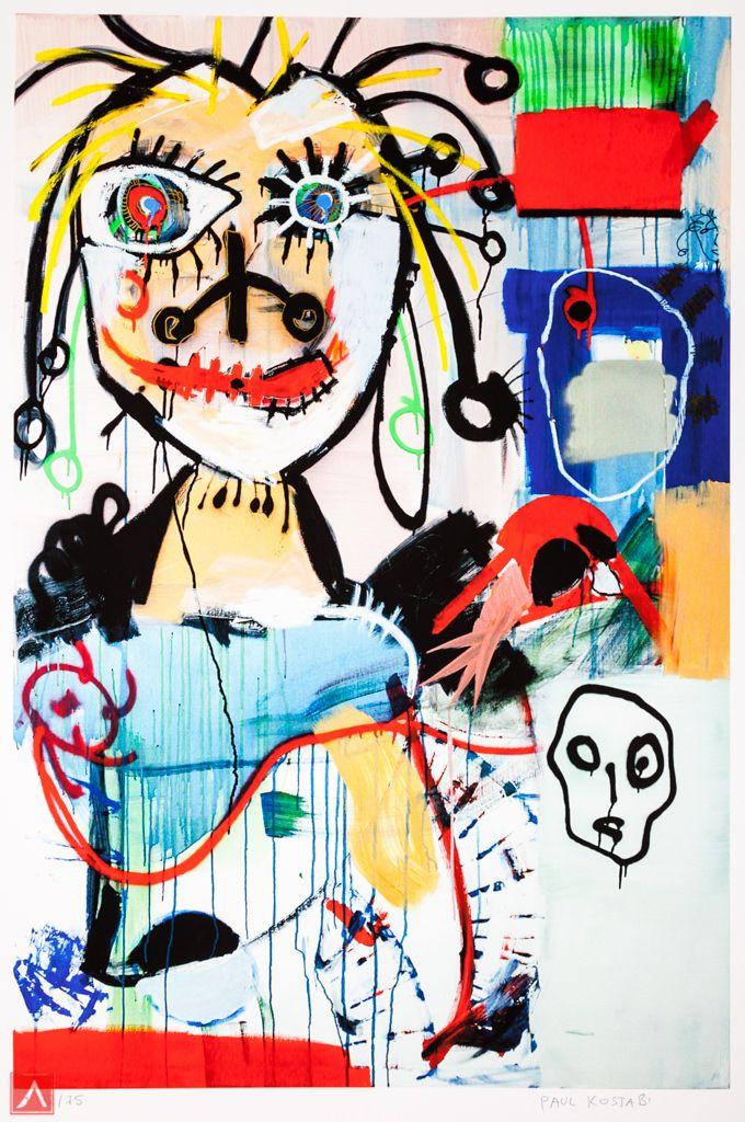 "Paul Kostabi: ""Joachim"" (2012) is a handsigned & numbered gliclée."