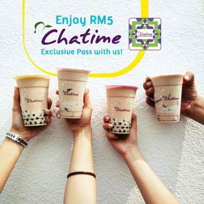 23-26 Jun 2016: Chatime Exclusive Pass for only RM5 Promotion