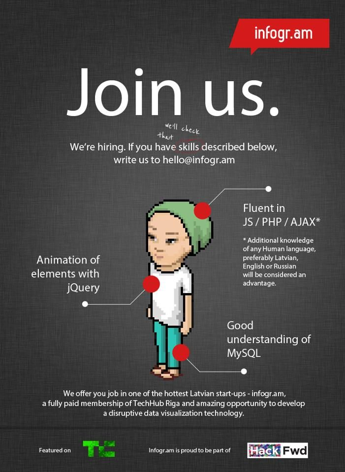"""Clear """"We're hiring"""" poster"""