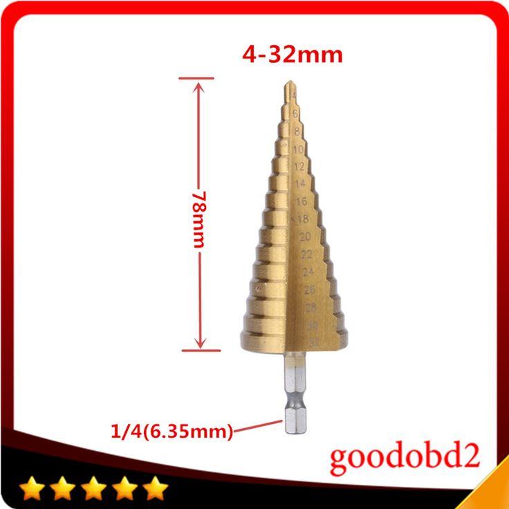 $8.50 (Buy here: https://alitems.com/g/1e8d114494ebda23ff8b16525dc3e8/?i=5&ulp=https%3A%2F%2Fwww.aliexpress.com%2Fitem%2FNewest-Sheet-Metal-Hex-Titanium-Step-Core-Drill-Bit-Hole-Cutter-4-32MM-HSS-4241%2F32650099570.html ) Newest Power Tool Accessory Sheet Metal Hex Titanium Step Core Drill Bit Hole Cutter 4-32MM HSS 4241 for just $8.50