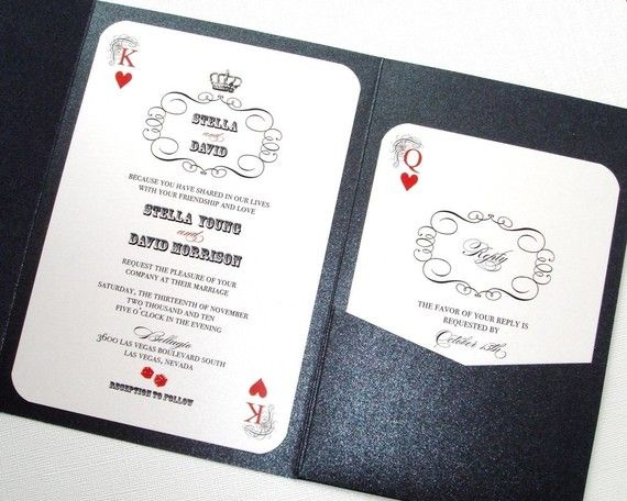 Las Vegas Wedding Save The Date Casino Invitation Playing Card