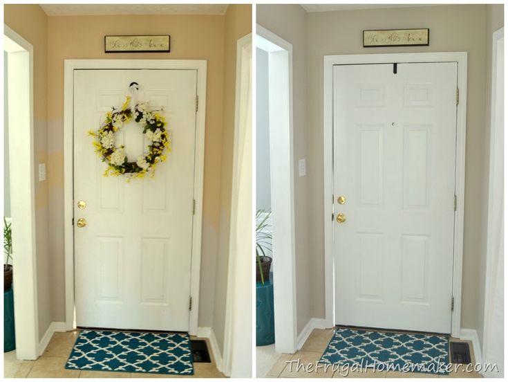 Entryway Beforeafter Door In 2019 Hallway Decorating