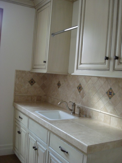 Counter And Backsplash Utility Room Pinterest
