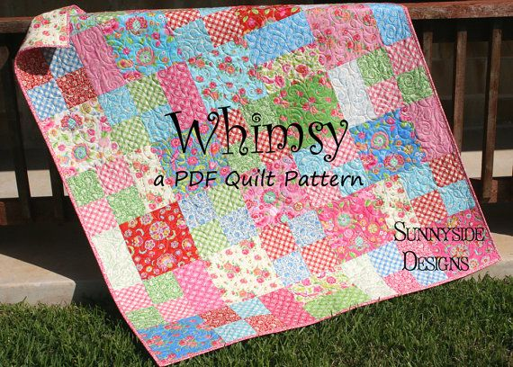 Layer Cake Quilt Pattern Whimsy Moda Baby Quilt And